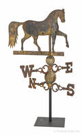 New England cast iron prancing horse weathervane 19th c