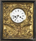 French or German gilt eagle picture frame clock