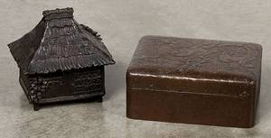 Early Japanese bronze covered dresser box