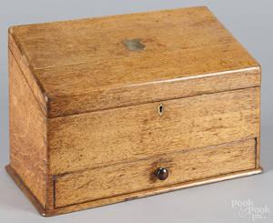 English oak letter box
