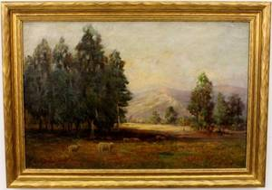 Getrude A Brooks Landscape Oil on Canvas
