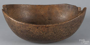 New England oblong burl bowl