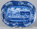 Clews historic blue Staffordshire platter