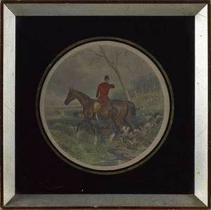 English fox hunt lithograph