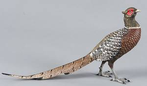 Austrian cold painted bronze ring neck pheasant