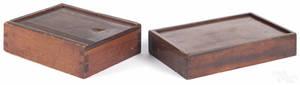 Mahogany slide lid box