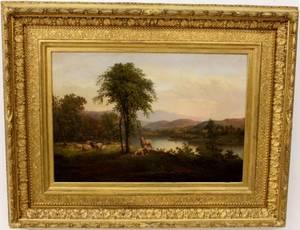 Samuel Fuller Pastoral Landscape wSheep c 1864