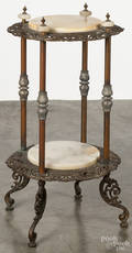 Victorian brass and marble stand