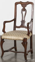 Continental walnut armchair