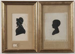 Two English or American hollowcut miniature silhouettes
