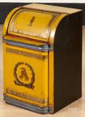 Painted tea bin