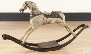 Painted wood hobby horse