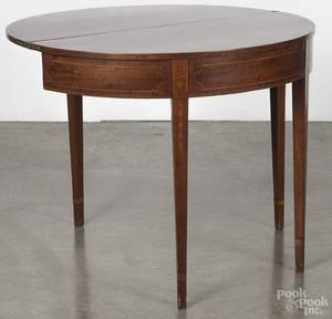 Hepplewhite mahogany game table