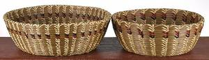 Two contemporary Native American woven baskets