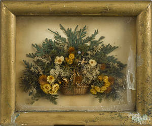 Victorian diorama in a shadow box frame