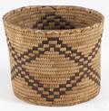 California Native American coiled basketry bowl