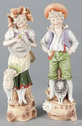 Pair of bisque children figures