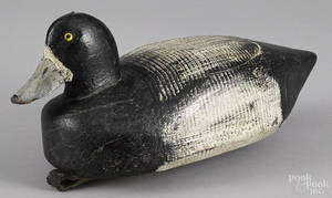 Susquehanna River carved and painted bluebill duck decoy mid 20th c