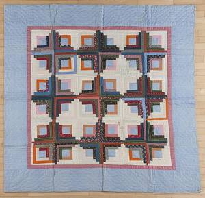 Pennsylvania patchwork log cabin variant quilt