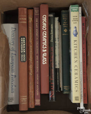 Group of antique reference books pertaining to ceramics