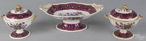 Spode Imperial threepiece ironstone garniture late 19th c