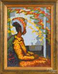 Oil on panel portrait