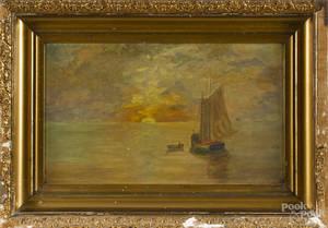 Oil on board seascape