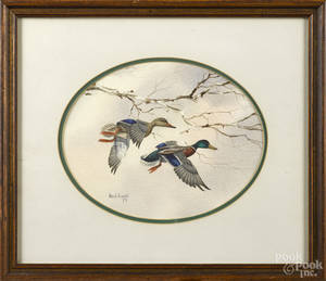 Two color lithographs