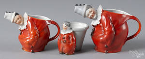 Royal Bayreuth porcelain red clown milk pitcher