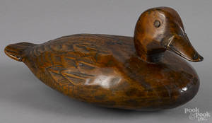 Carved and painted duck decoy early 20th c