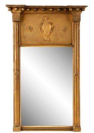 Federal Style Giltwood Mirror 19th Century
