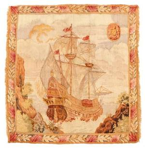 Hand Woven Tapestry Panel British Clipper Ship
