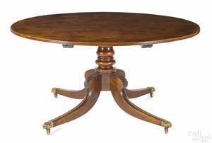 Regencystyle mahogany pedestal dining table early 20th c