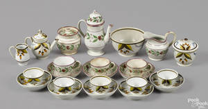English pearlware tea service 19th c