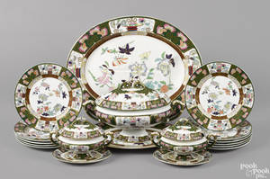 Partial Ashworth Gaudy ironstone dinner service late 19th c