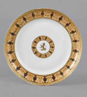 Chinese export porcelain plate of Philadelphia interest ca 1800