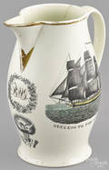 Liverpool Herculaneum earthenware pitcher early 19th c