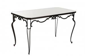 French Cast Iron Mirror Top Table 20th C