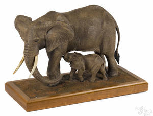 Louis Paul Jonas Studios composition sculpture of elephants