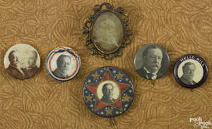 Six William Howard Taft political buttons