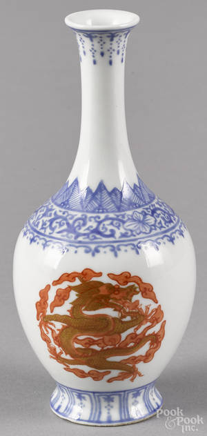 Chinese porcelain vase with dragon decoration