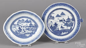 Chinese export porcelain canton warming dish