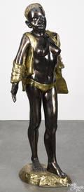 Gilt bronze figure of a Zulu girl