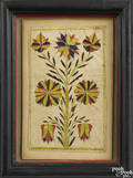 Southeastern Pennsylvania watercolor fraktur bookplate early 19th c