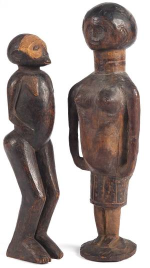 African carved figure of a woman