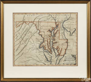 Color engraved map of  The Province of Maryland