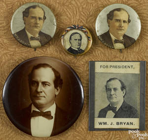 Four William Jennings Bryan political buttons
