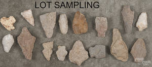 Large group of miscellaneous Native American stone points