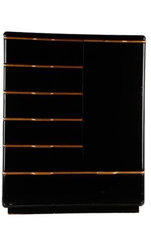 MCM Black Lacquer  Maple Wardrobe Chest Lane