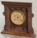 Ansonia  Newark  oak mantel clock